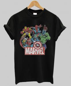 Marvel Avengers Team Cool Retro Comic Funny Vintage Unisex T-Shirt NA